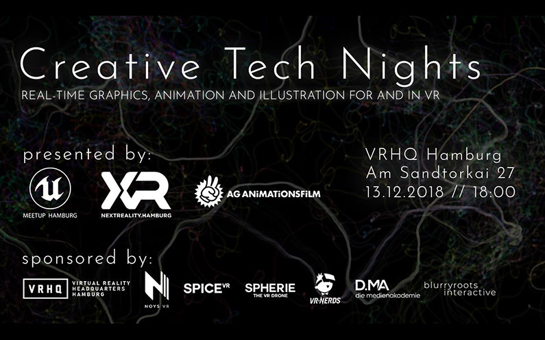 Talk & Exhibition: Creative Tech Nights, VRHQ Hamburg – December 12, 2018